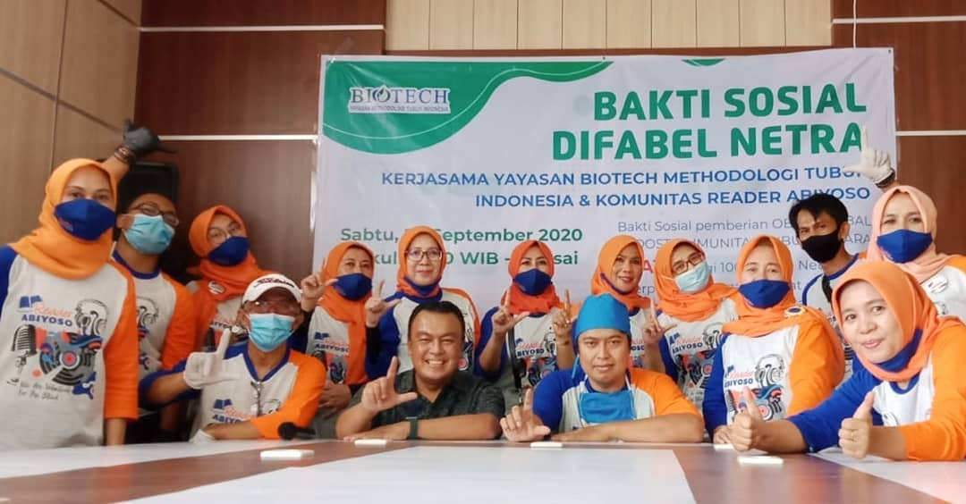 Providing Immunity for People with Blind Disabilities, Reader Abiyoso Collaborates with the Indonesian Body Methodology Foundation Biotech